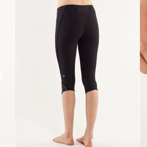 Lululemon fast and free crop ruffle 6 leggings
